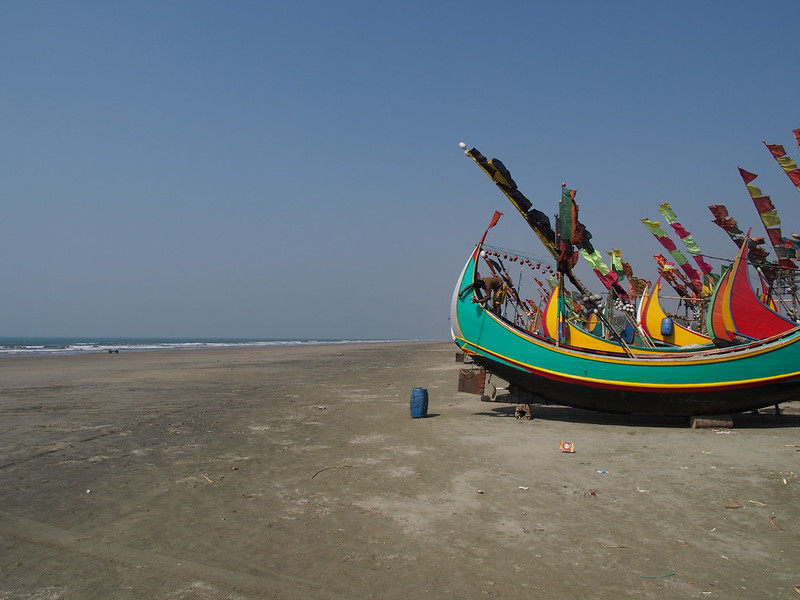 Fisherman's Boat at Beach of Teknaf