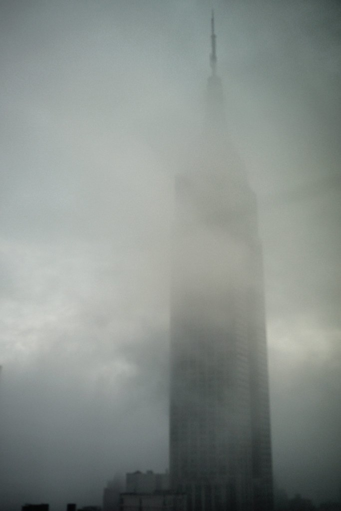 Foggy Empire State Building #walkingtoworktoday