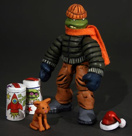 MICHAELANGELO #1, TEENAGE MUTANT NINJA TURTLE #1 { ORIGINAL MICRO-SERIES } :: Michaelangelo and Klunk 1985 Custom Action Figures i by  Kevlar Palsh (( 2012 ))