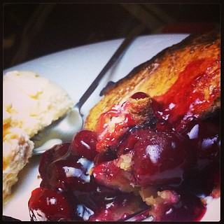 Cherry pie for #dessert.