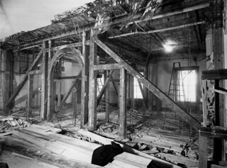 Second Floor Corridor of the White House during the Renovation, 02/09/1950