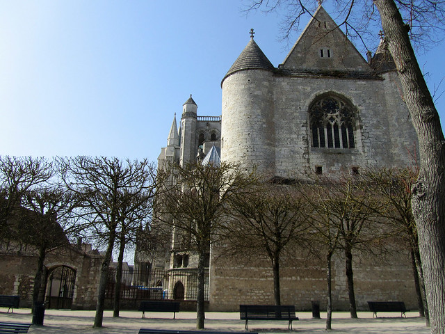 Chartres Cathdral, view from Jardin de l'Évêché