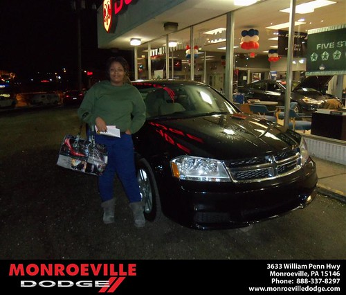 Congratulations to Lonnie Davis on the 2013 Dodge Avenger by Monroeville Dodge