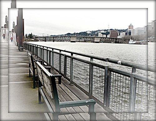 oregon fence bench portland willametteriver ribbet eastbankesplanade fenchedfriday