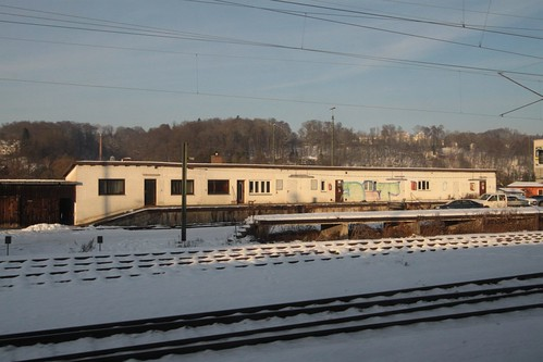 Abandoned railway goods yard at Passau station