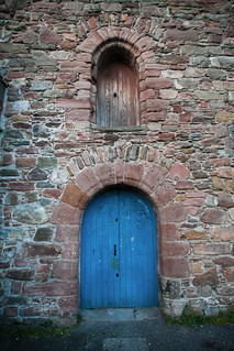 {A Door in the Old High Church Yard} Inverness