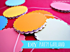 paint swatch party garland