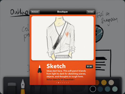 The Soft Pencil in the Paper iOS App