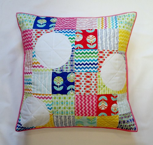 color me retro pillow