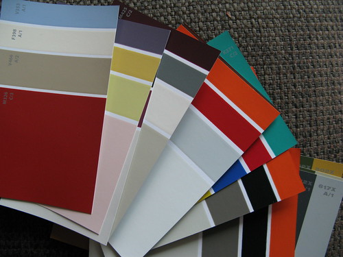 Paint chip colours