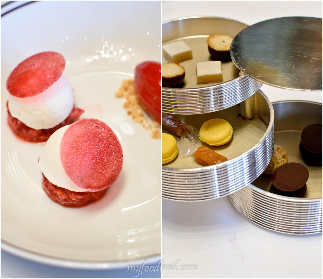 Amber Restaurant, Hong Kong - Complimentary petit fours