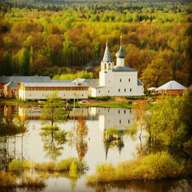 #Flood #RU #russia #church #spring #river #water #forest #weekend #travel