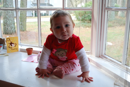 Caroline's first Valentine's Day!