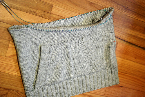 cowl neck sweater vest thing