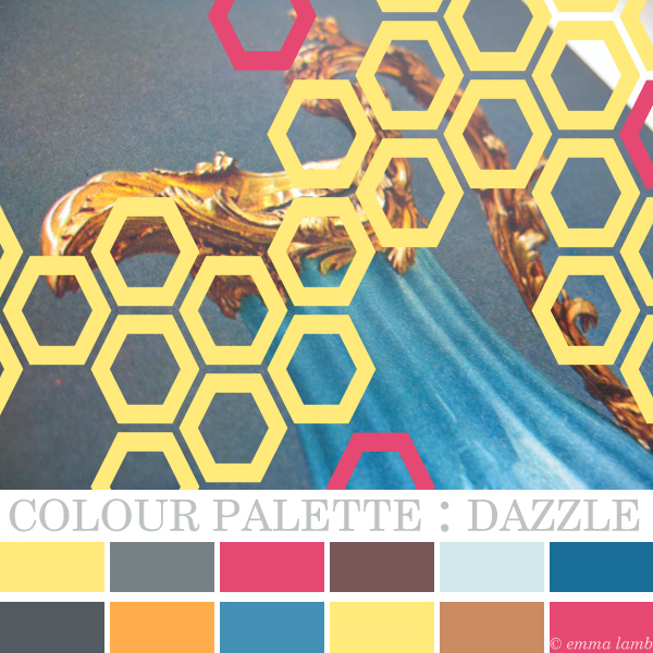 colour palette : dazzle by © emma lamb