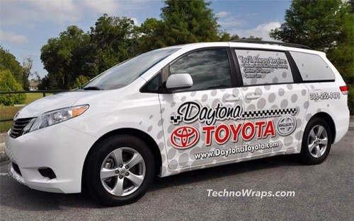 Minivan vehicle wrap in Daytona