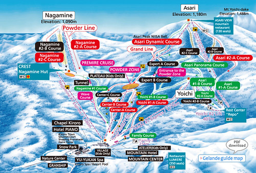 Kiroro Snow World Piste Map