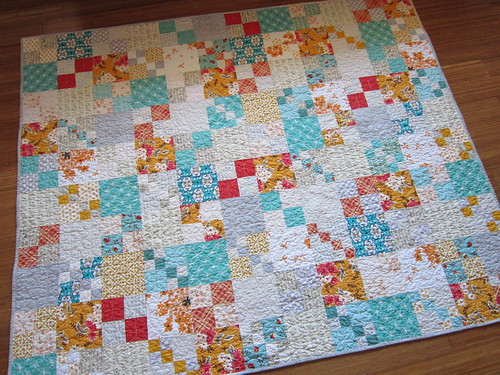finished Vintage Tangerine quilt