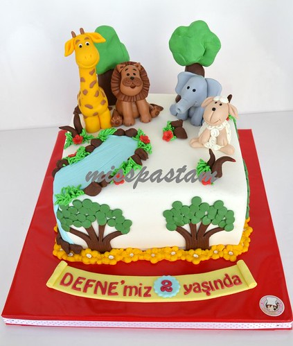 animal cake by MİSSPASTAM