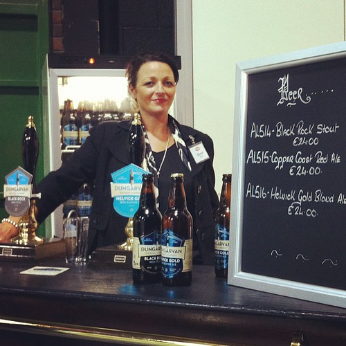 Sinead at @dungarvanbrewco in #pallas palace at #catex #catex13 #irishbeer #irish #beer