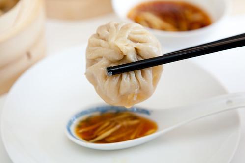 Soup dumpling or xiaolongbao (小笼包)