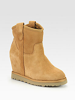 Welcome To Fabbylife Ash Suede Wedge Ankle Boots 116
