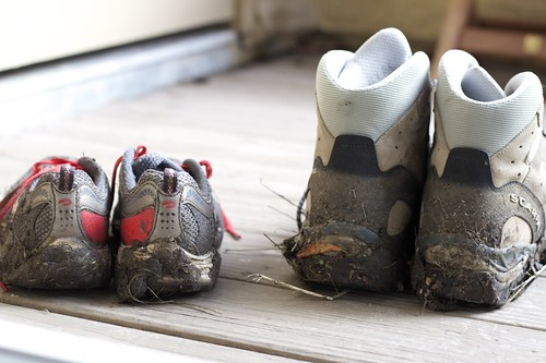 Muddy Hiking Shoes - 1