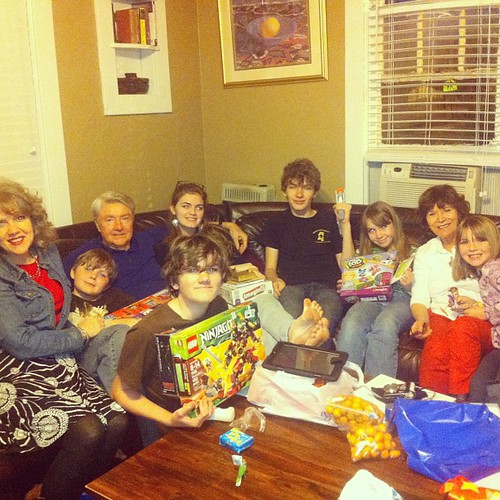 Me and the Grandkids and the Grandparents. 2-22-13 #grandkids #grandpere #nana #belatedchristmas #gifts #lifeatwewillgo
