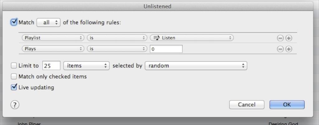 Unlistened
