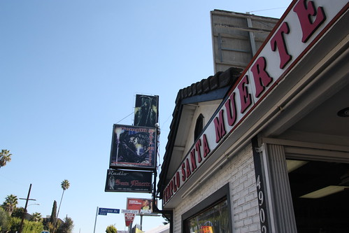 Signage for Templo Santa Muerte in Los Angeles