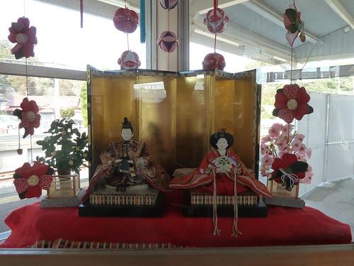 上総興津駅 (かつうらビッグひな祭り)