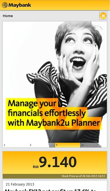 Maybank.com On a Mobile Phone