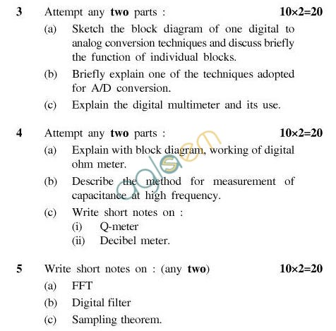 UPTU B.Tech Question Papers - IC-802-Digital Measurement Techniques