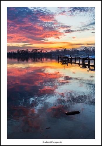 sunset reflection pier maryland middleriver wilsonpoint