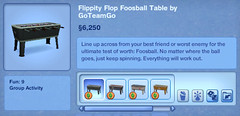 Flippity Flop Foosball Table by GoTeamGo