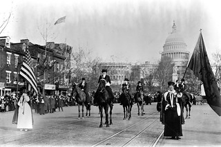 Woman suffragists at head of parade
