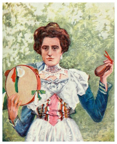 003-Bailarina de Tarantella con castañuelas-Naples -1904- Augustine Fitzgeral