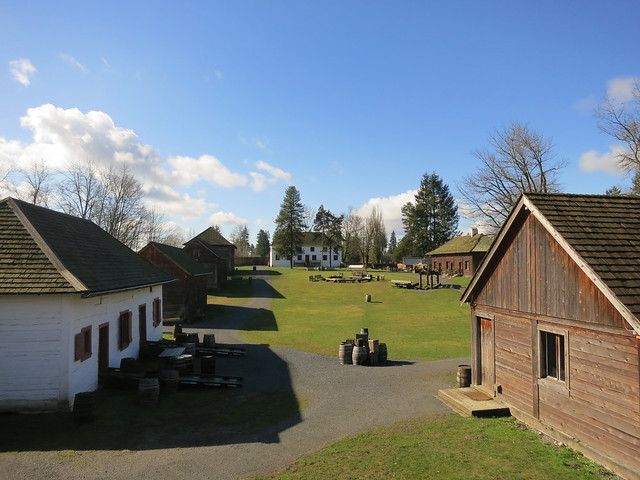 Fort Langley from the ramparts