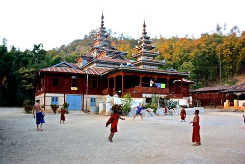 some Europeans introduced frisbee to the monks