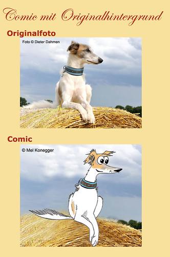 Comic-mit-Originalhintergrundfoto