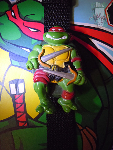 "HOPE INDUSTRIES ""TEENAGE MUTANT NINJA TURTLES"" :: RAPHAEL Digital Watch ii (( 1988 ))"