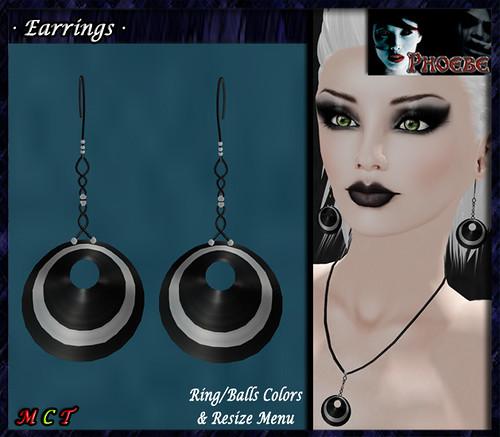 *P* Laia Earrings ~Black&Silver~ Colors Menu
