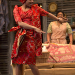 Keona Welch ('Beneatha Younger') in the Huntington Theatre Company's production of Lorraine Hansberry's A RAISIN IN THE SUN. Mar. 8 - Apr. 7, 2013 at Avenue of the Arts / BU Theatre. huntingtontheatre.org. photo: T. Charles Erickson