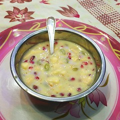 vegetable(0.0), plant(0.0), produce(0.0), corn chowder(1.0), fruit(1.0), food(1.0), dish(1.0), soup(1.0), cuisine(1.0),