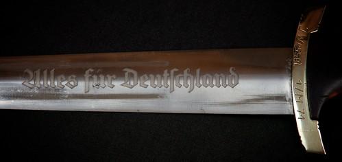 "Knife Collection: WWII German Dagger, ""Alles fur Deutschland"" engraving"
