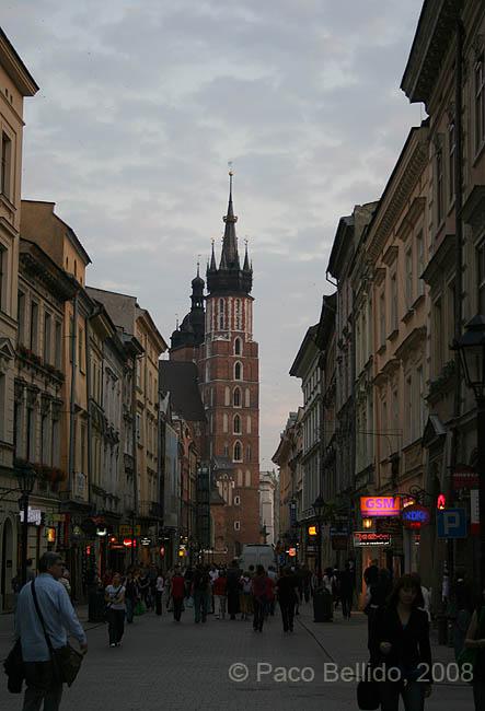Vista de Santa Maria desde la calle Florianska. © Paco Bellido, 2008