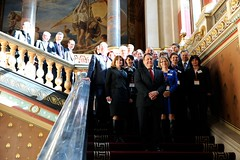 European representatives at the signing of the French/UK funding commitment to the Jules Horowitz research reactor