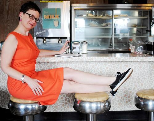 Mod Betty Rockin the Keds