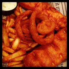 Fish and Chips at Thatcher McGhee's - lovin' this Irish pub!