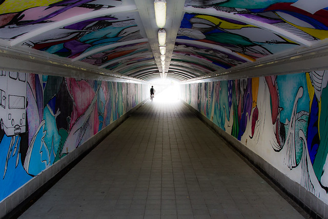 Clarke Quay Tunnel Singapore, par Franck Vervial